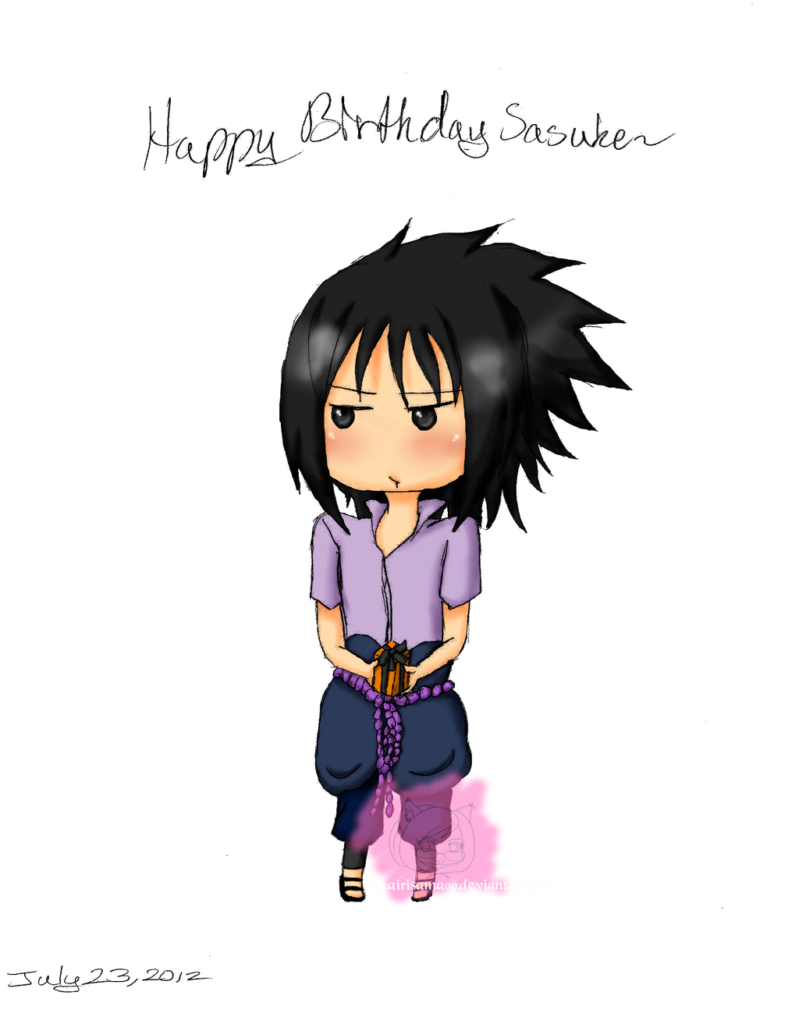 Naruto Happy Birthday Sasuke  by Kaishiru on