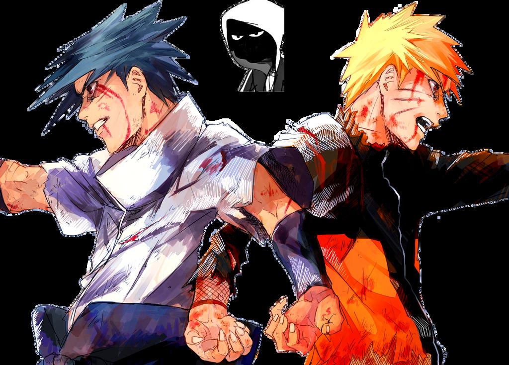 Naruto and Sasuke by fvckfdaname on DeviantArt