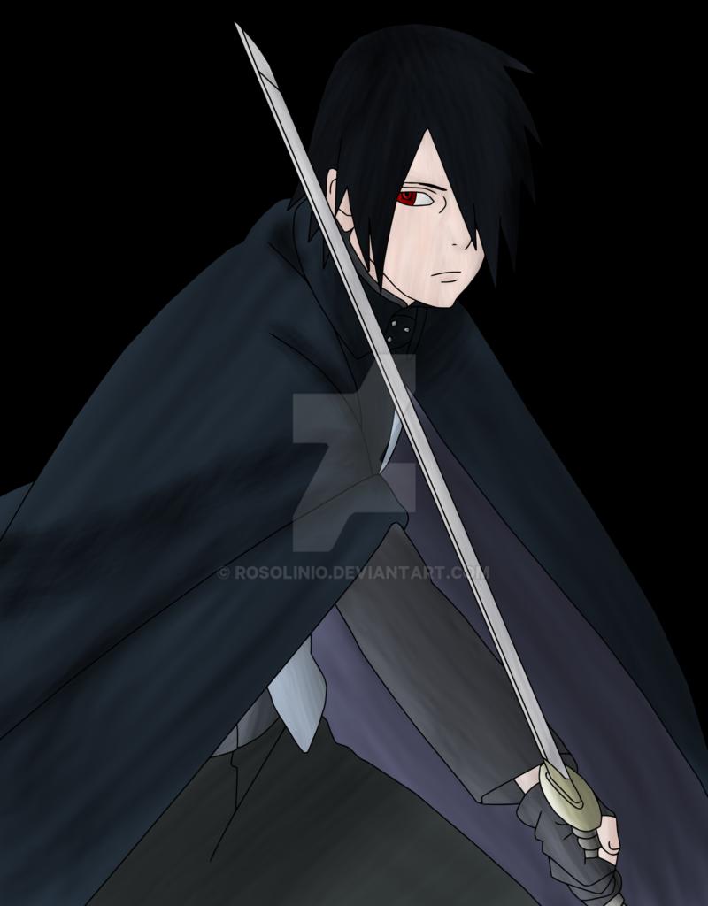 Uchiha Sasuke Boruto The Movie Lineart Colored by