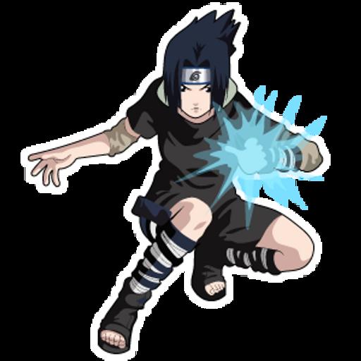 Naruto Sasuke Uchiha - Sticker Mania - Sasuke Stencil