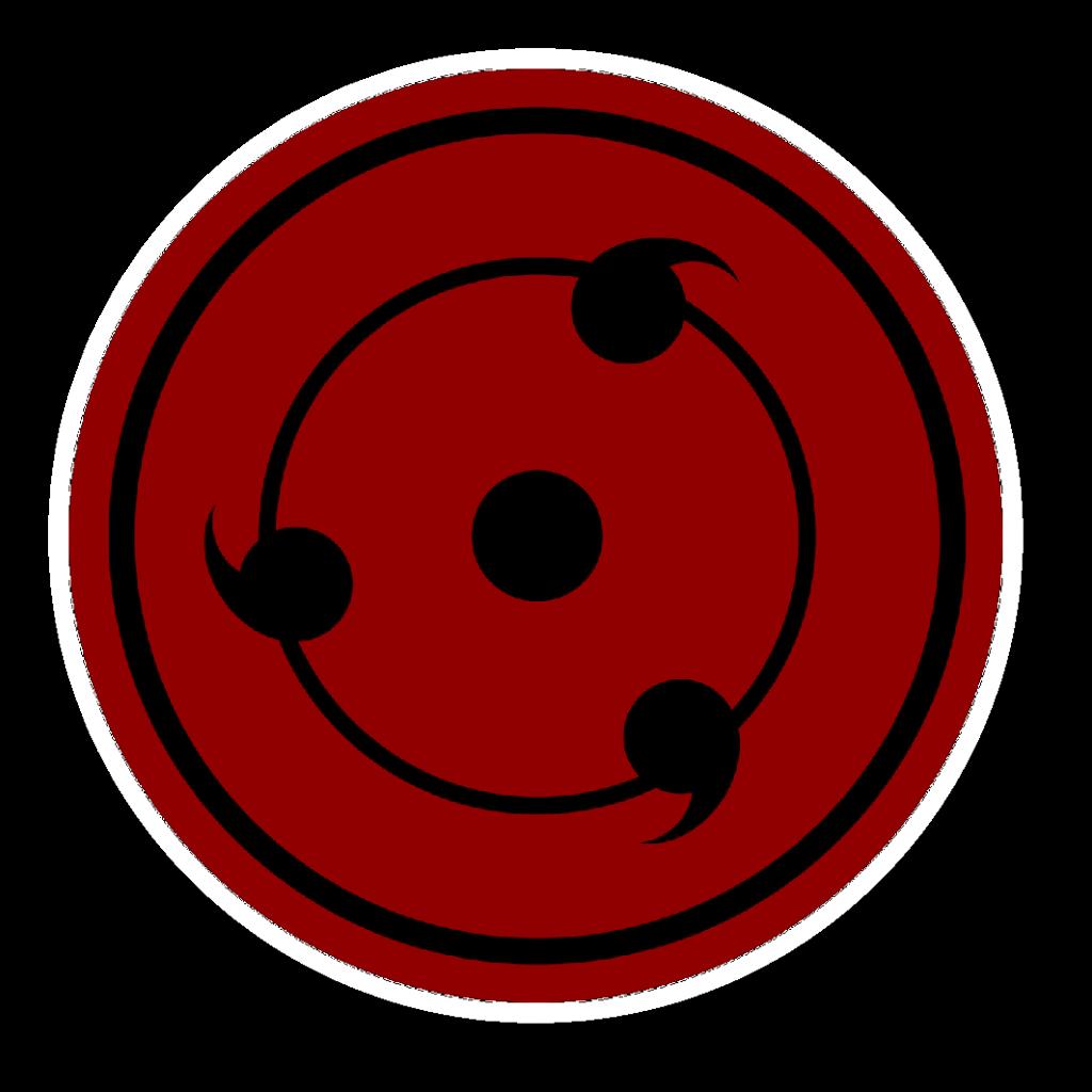 NARUTO  Exclusive Uchiha Sharingan Symbol Sticker Red