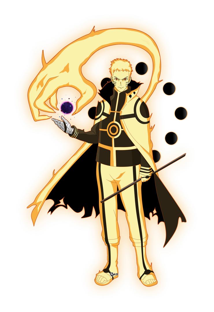 naruto hokage modo bijuu by naironkr on DeviantArt in 2020 ... - Sasuke as Hokage