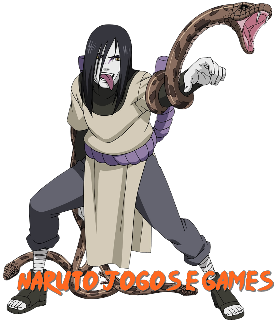 Naruto Shippuuden Orochimaru com sua cobra