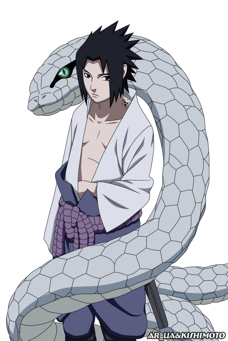 Sasuke and Hebi by AR-UA on DeviantArt - Sasuke with Snake