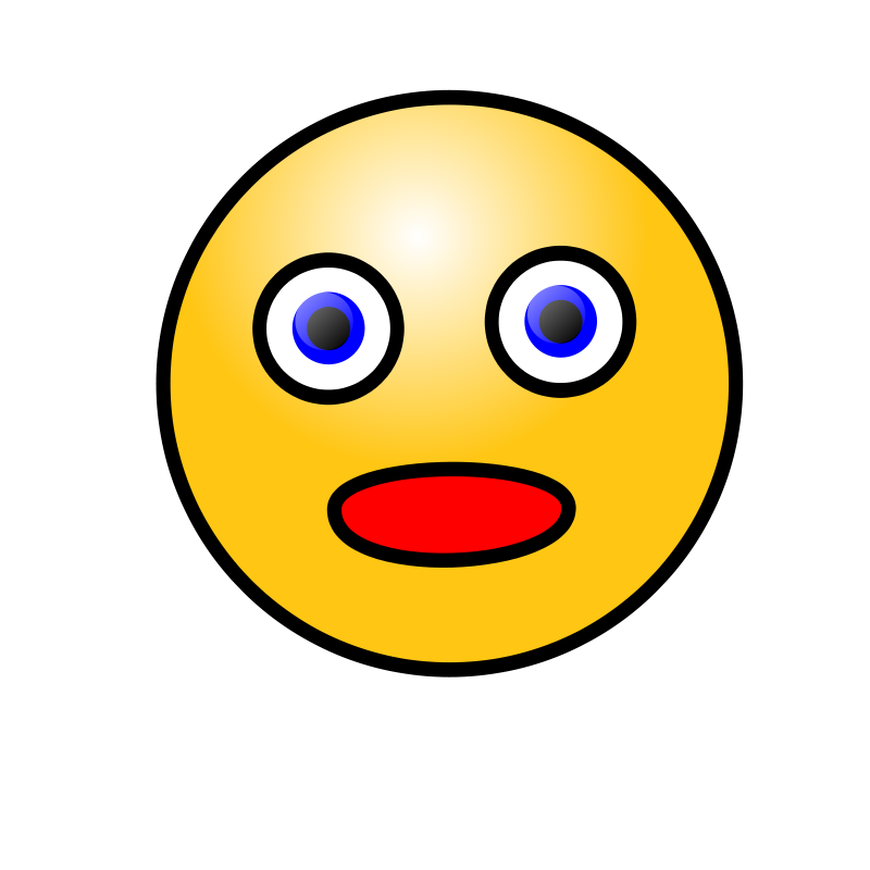 Shocked Smiley Face  ClipArt Best