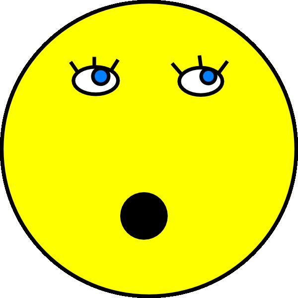 Surprised Smiley Face Clip Art at Clkercom  vector clip