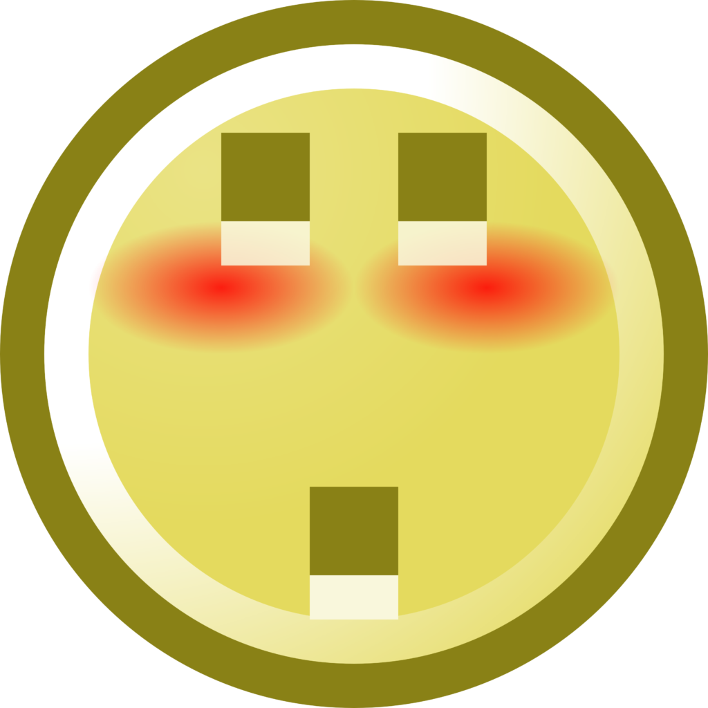 Free Blushing Smiley With Shocked Expression Clip Art