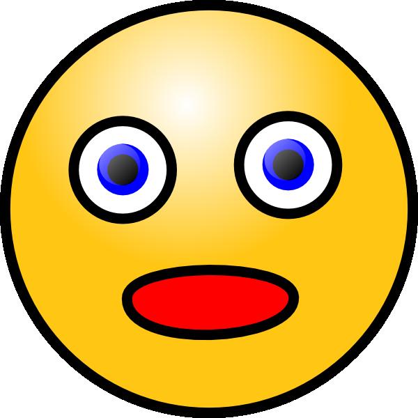 Smiley Shocked Clip Art at Clkercom  vector clip art