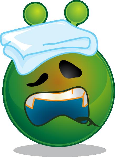Smiley Green Alien Sick Clip Art at Clkercom  vector