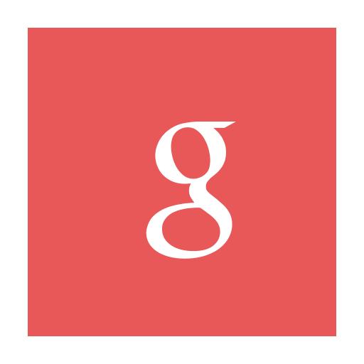 Circular g google modern red icon  Icon search engine