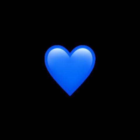 Первый стикер    love  Blue heart emoji Emoji wallpaper