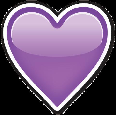 Purple Heart emoji  Emoticones de whatsapp Emoticonos