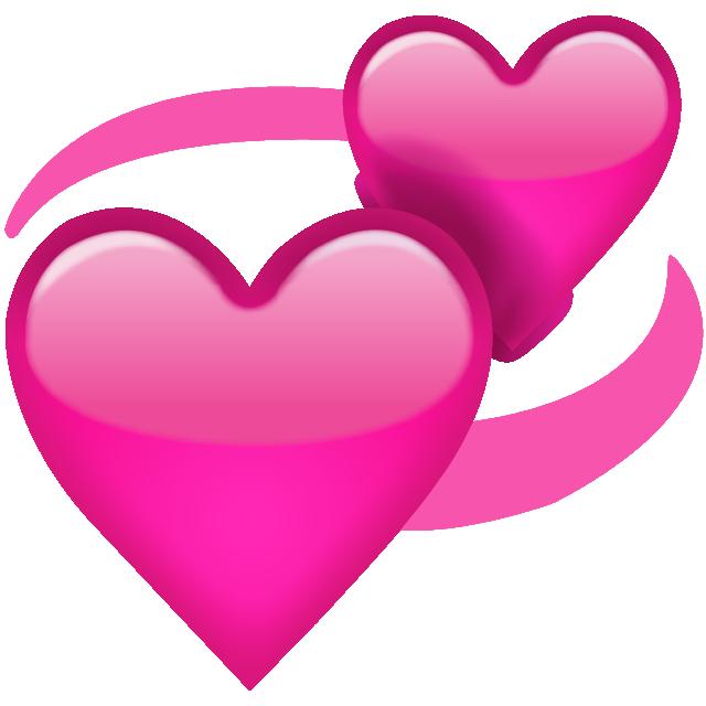 Download Revolving Pink Hearts Emoji Icon  Emoji Island