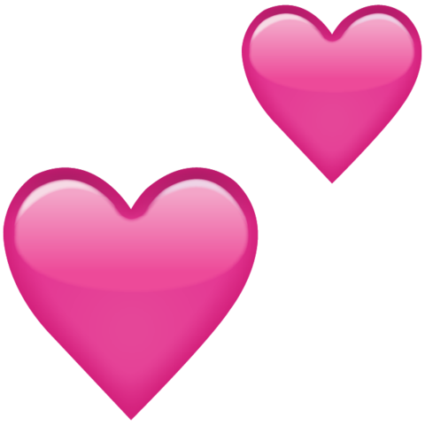 Download Two Pink Hearts Emoji Icon  Emoji Island