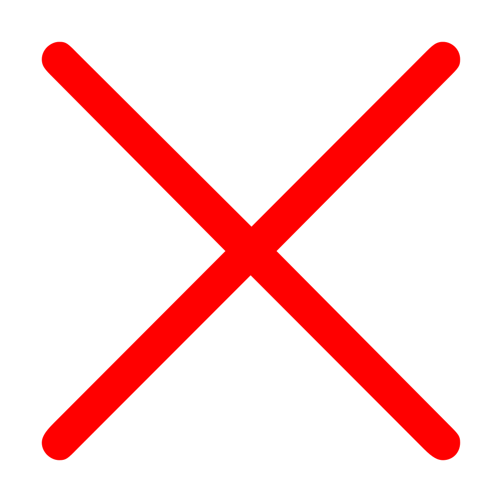Red x transparent background  Background Check All