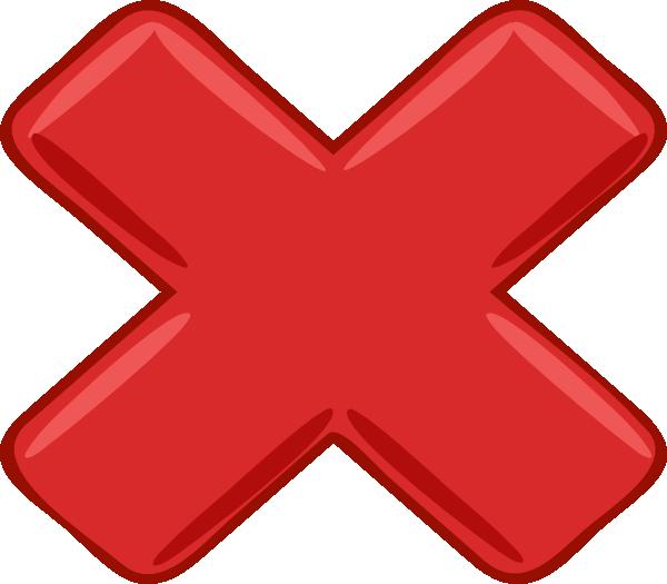 Red X Small Clip Art at Clkercom  vector clip art online