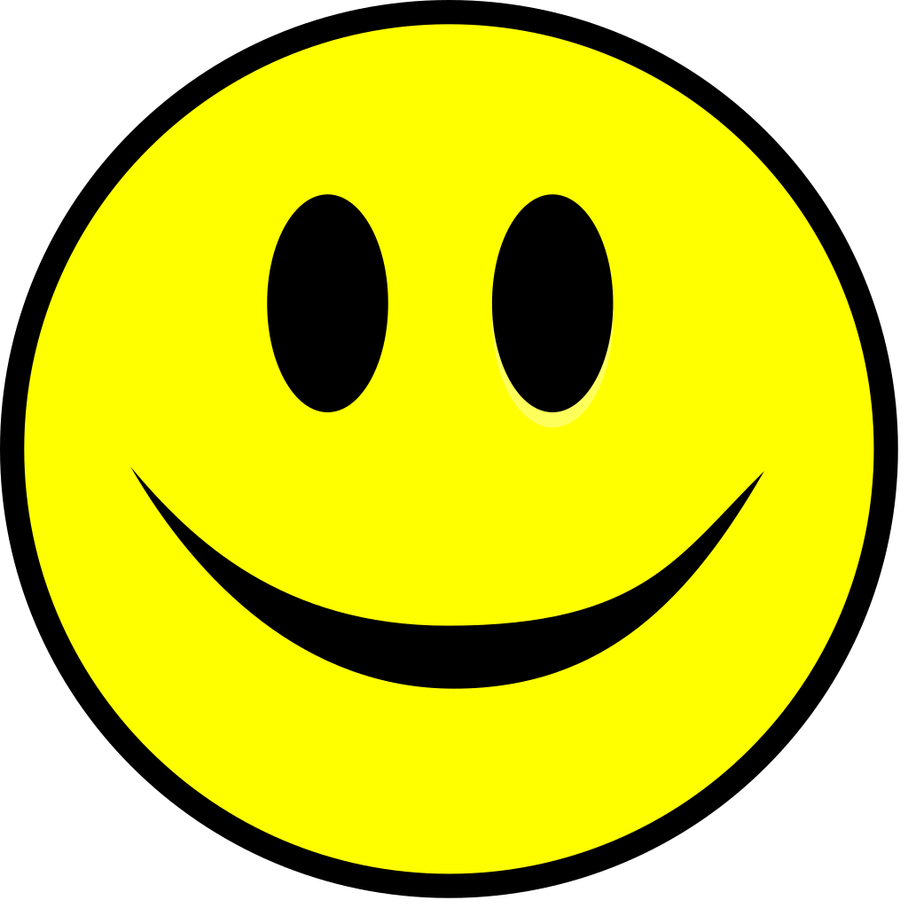 File:Smiling smiley yellow simple.svg - Wikimedia Commons - Smiley-Face SVG Free