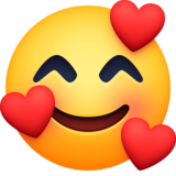 Smiling Face with Hearts Emoji on Facebook 30