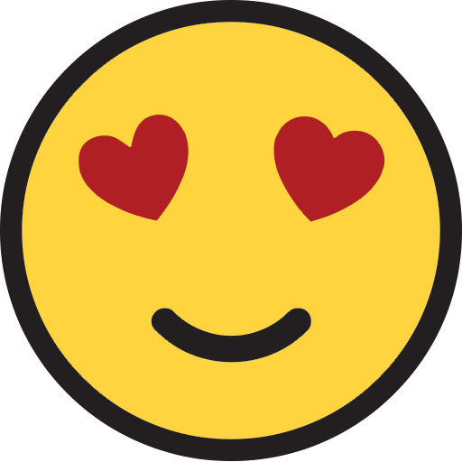 Smiling Face With Heartshaped Eyes  ID 9907  Emojicouk