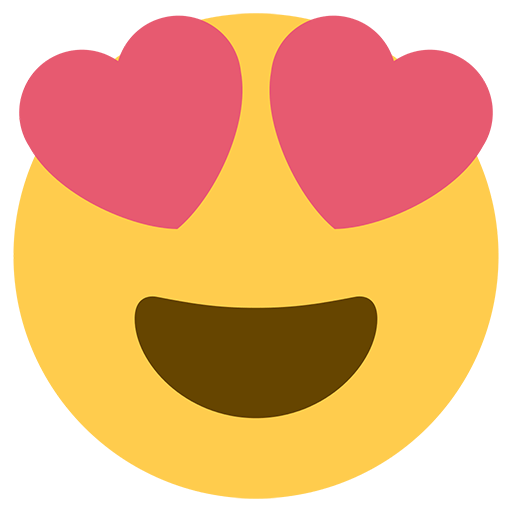 Smiling Face With HeartShaped Eyes Emoji for Facebook