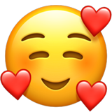 Smiling Face with Hearts Emoji on Apple iOS 121