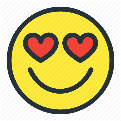 Emoji emoticons face heart love lovely smiley icon