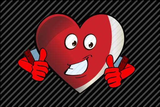 Cartoon emoji face heart smiley icon