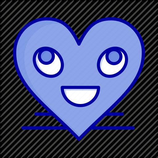 Emoji face heart smile smiley icon