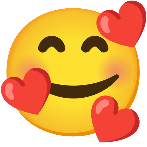 Smiling Face With Hearts Emoji