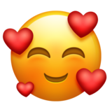 Smiling Face with Hearts Emoji on Emojipedia 110
