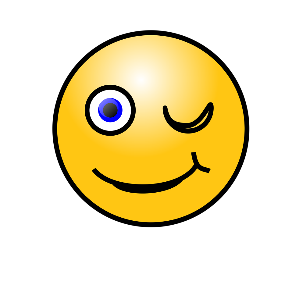 Smiley  Free Stock Photo  Illustration of a yellow