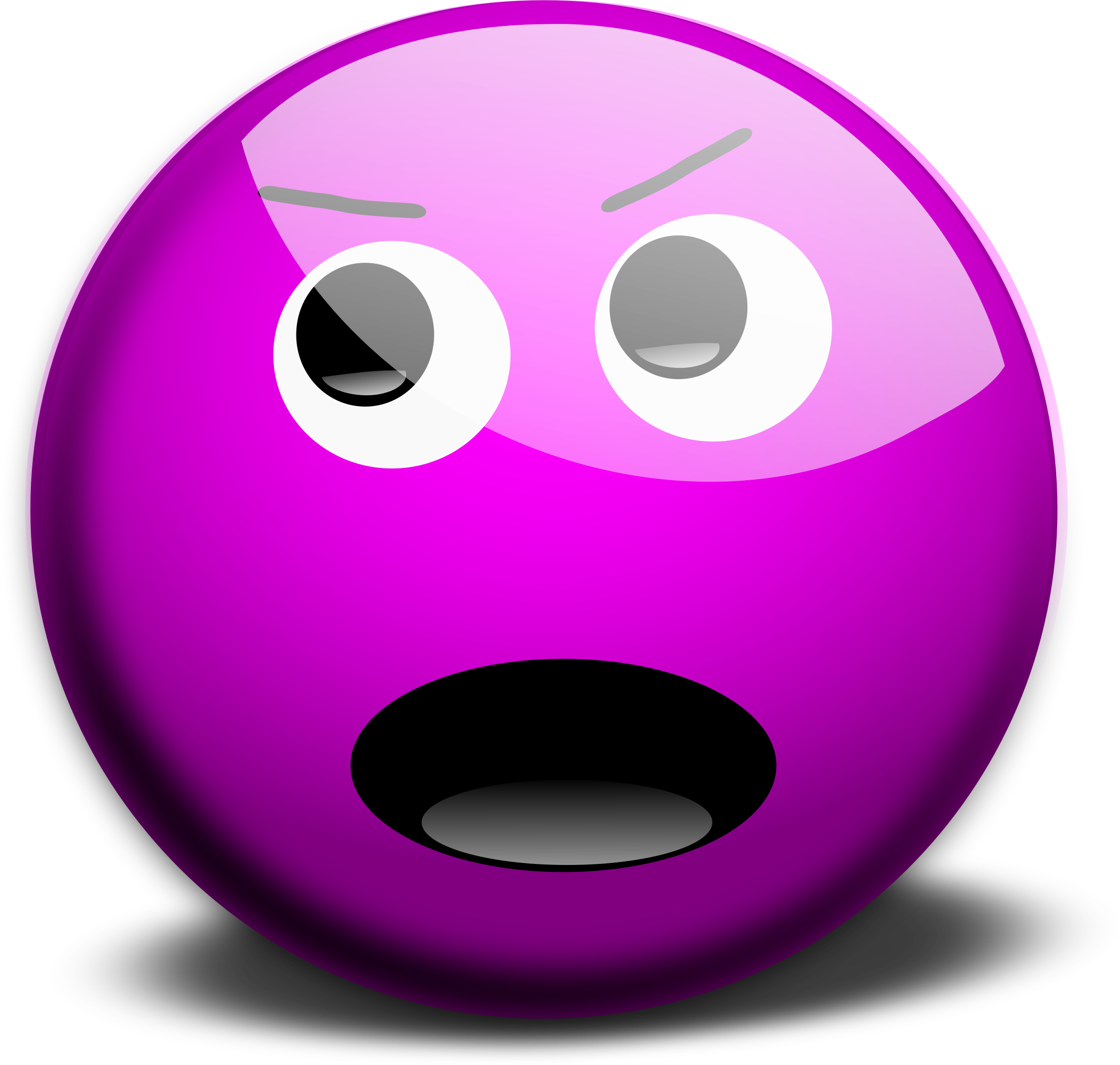 M Face2 by inky2010 Purple smileys on openclipart