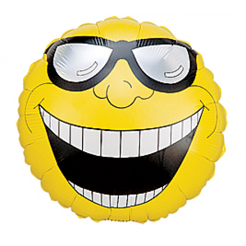 DiBella Flowers & Gifts - Shades Smiley Face Mylar ... - Smiley Face with Shades
