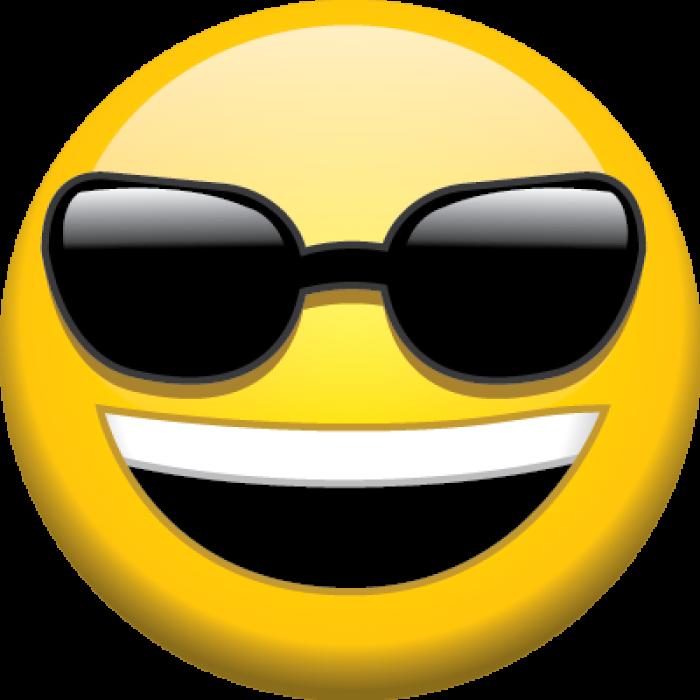 Sunglasses clipart emoji  Pencil and in color sunglasses