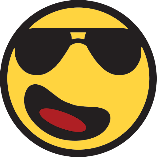 Smiling Face With Sunglasses  ID 27  Emojicouk