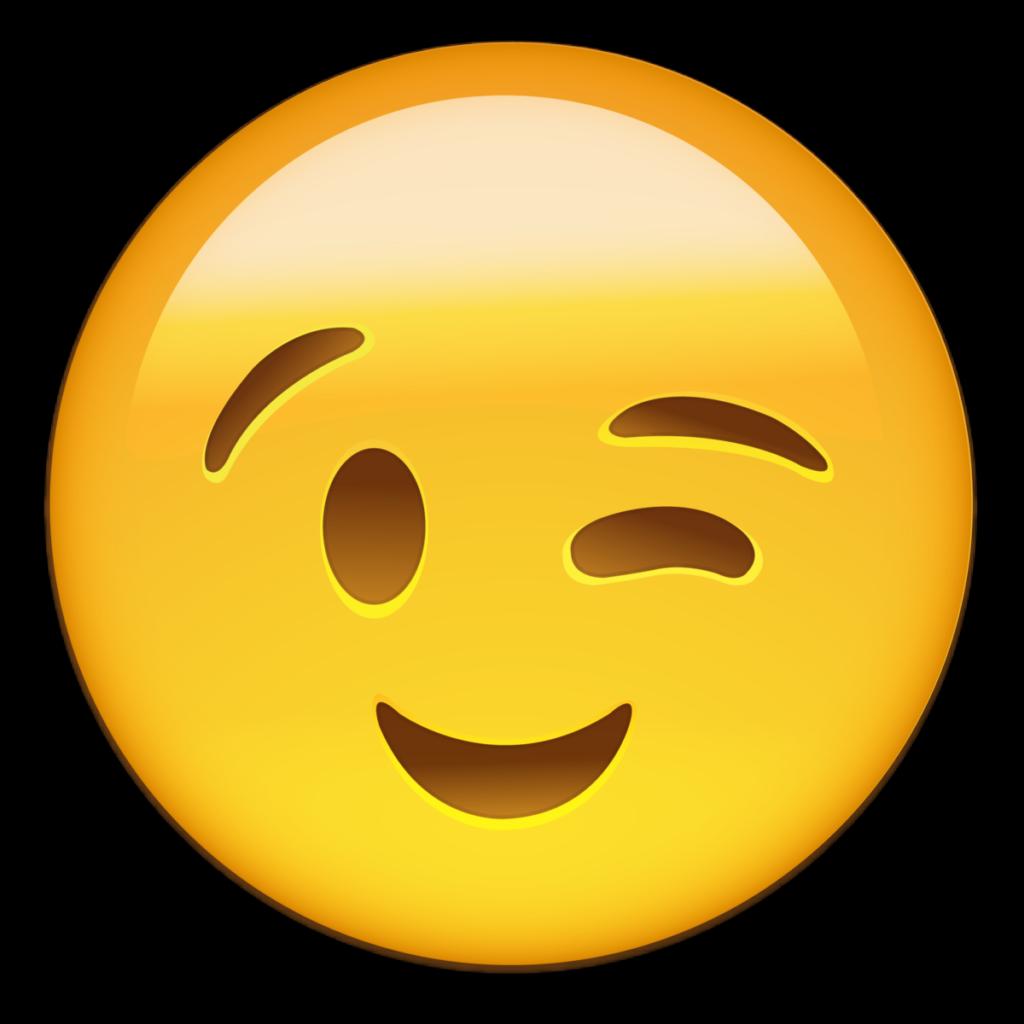 Download Emoticon Smiley Wink Smile Whatsapp Emoji HQ PNG