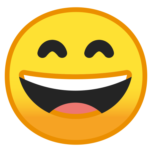 Grinning face with smiling eyes Icon  Noto Emoji Smileys