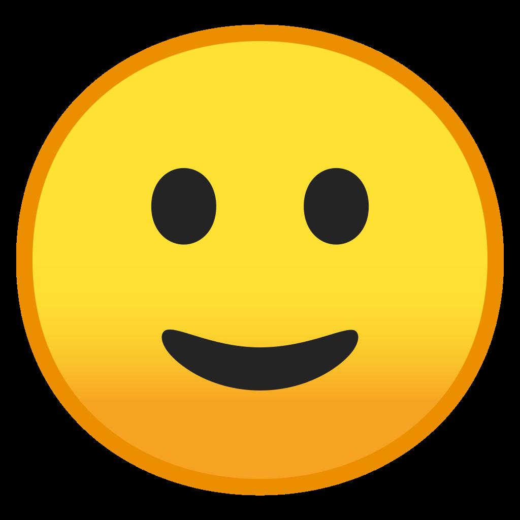 Slightly smiling face Icon  Noto Emoji Smileys Iconset  Google