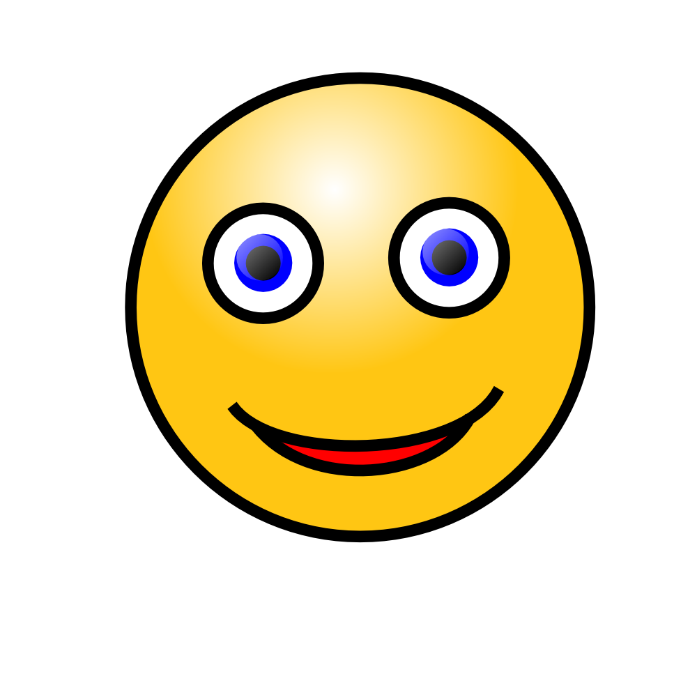 OnlineLabels Clip Art  Emoticons Smiling Face