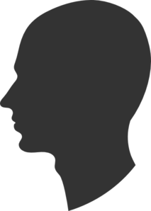 soldier head silhouette  male profile silhouette clip art
