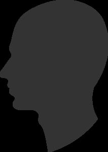 Male Profile Silhouette Clip Art at Clkercom  vector