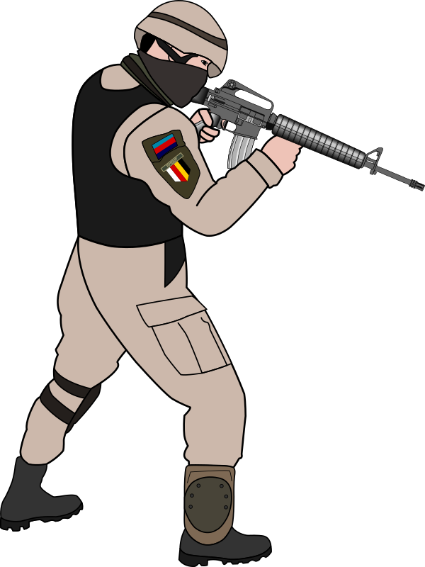 Soldier Silhouette Clipart  Free download on ClipArtMag