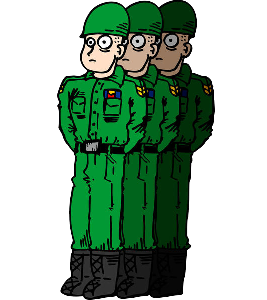 Army men Soldier Cartoon Drawing  Soldiers standing in