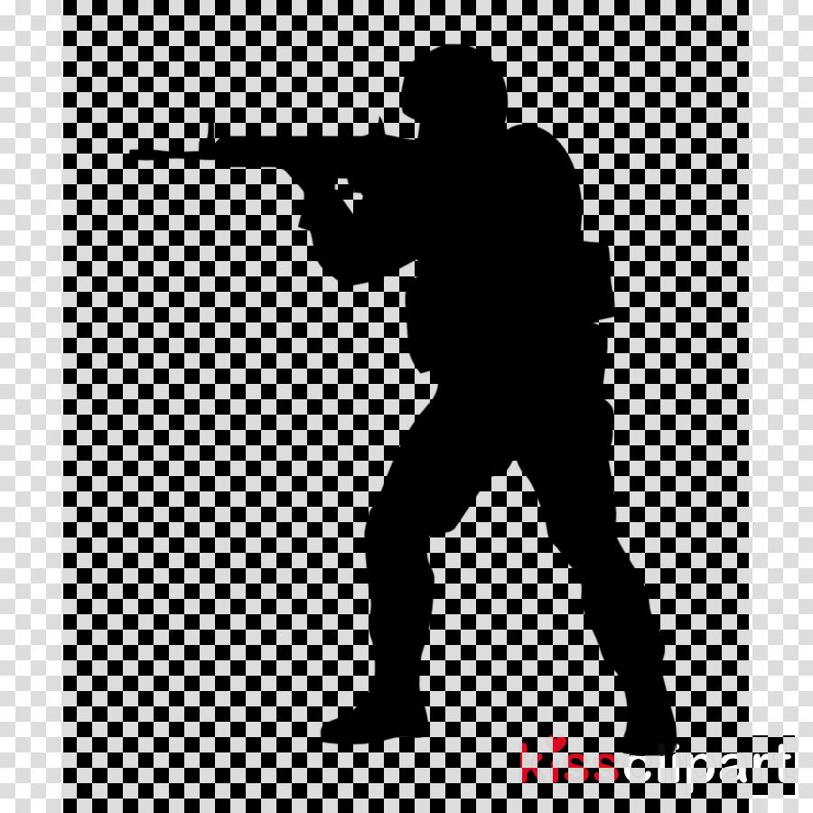 Soldier Silhouette clipart  Gun Soldier Silhouette