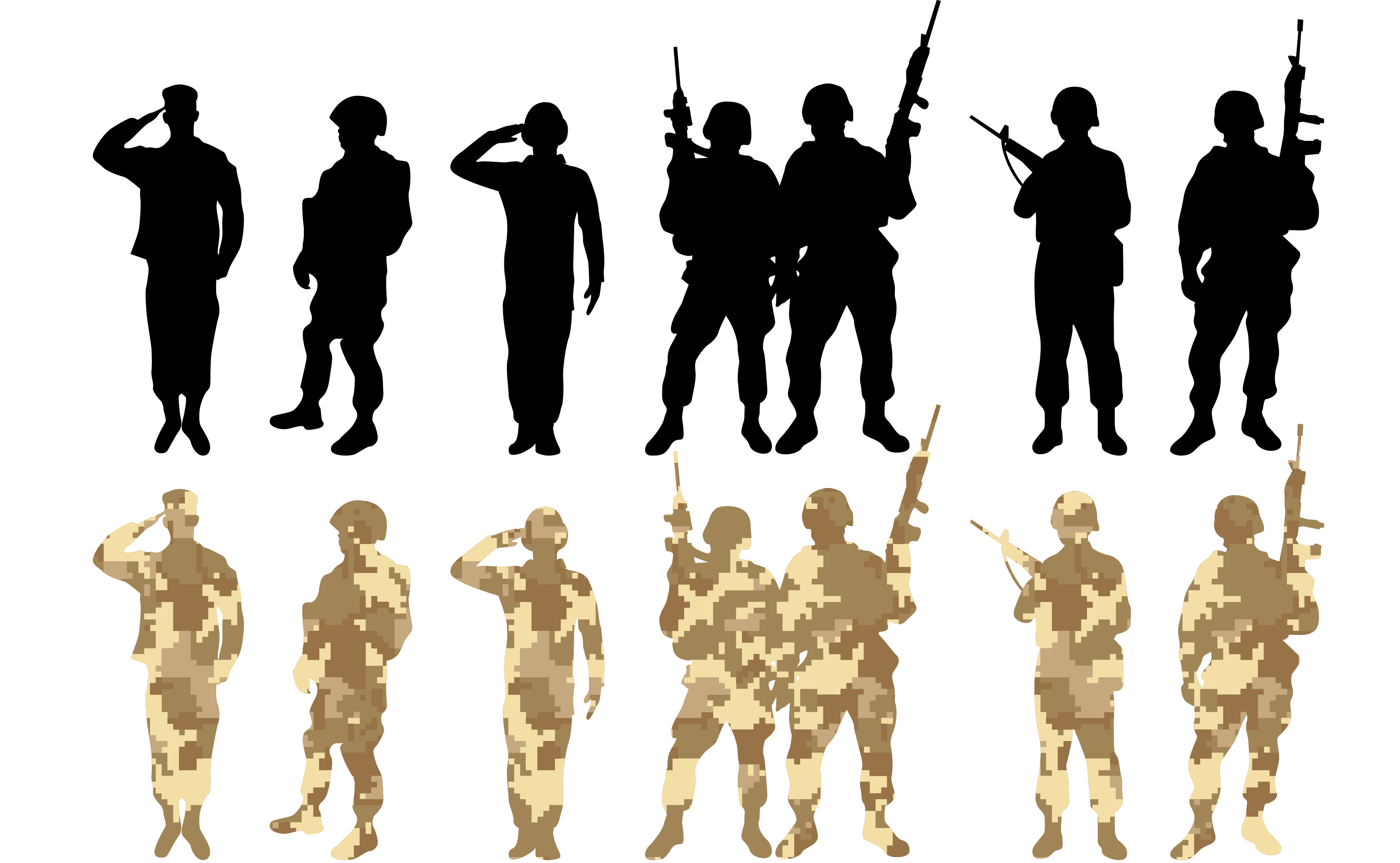 Soldier Salute Army - Vector soldier png download - 3270 ... - Soldier Silhouette Vector