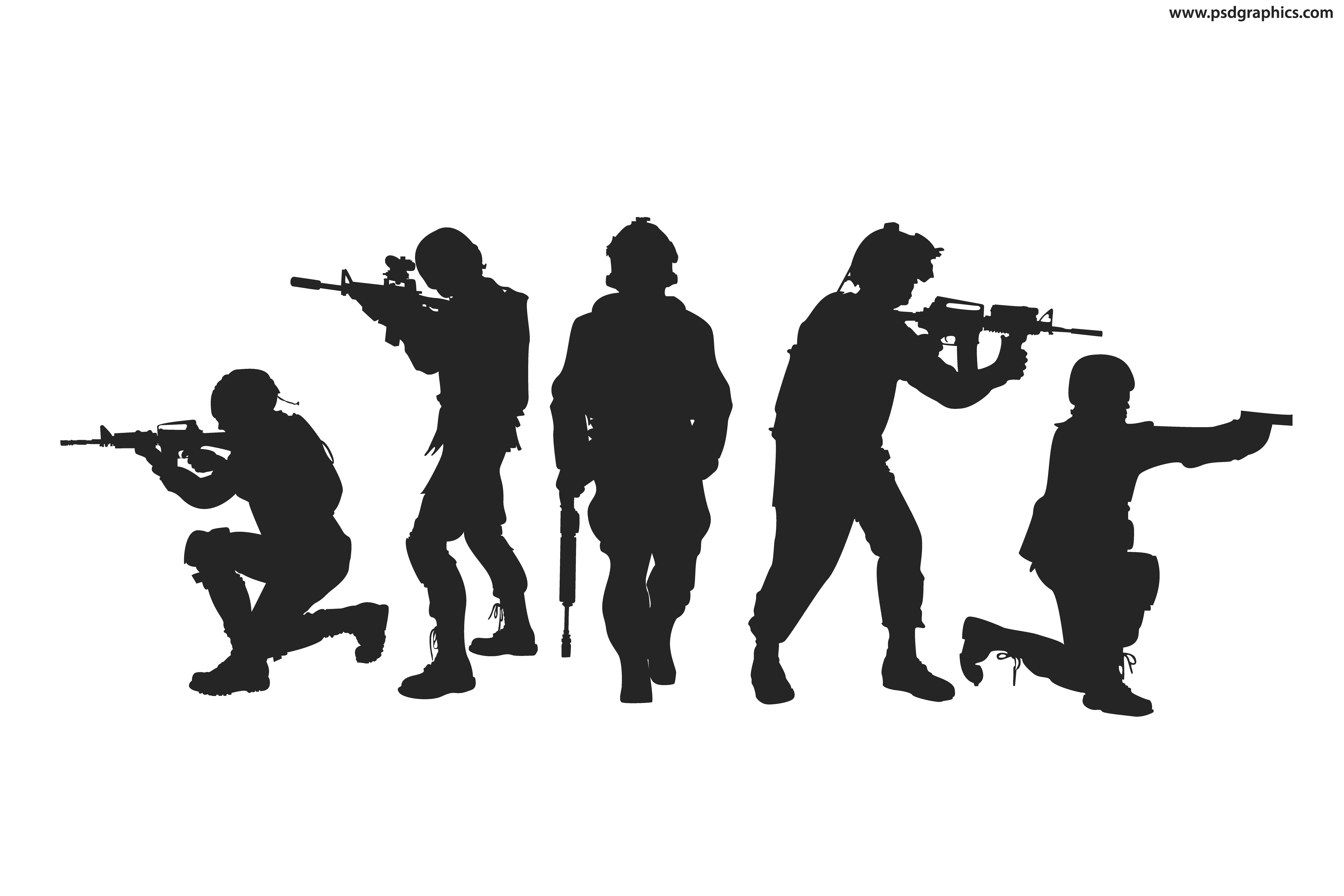 Soldiers silhouettes vector | PSDGraphics - Soldier Silhouette Vector