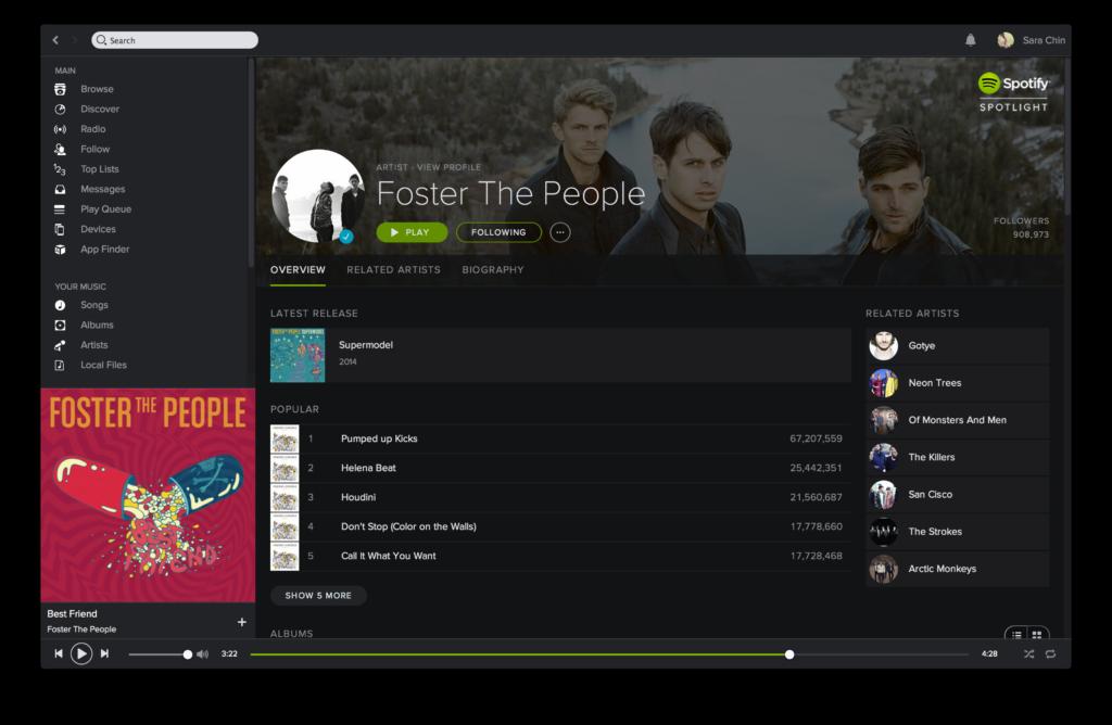 Spotify Gets a New Darker Look