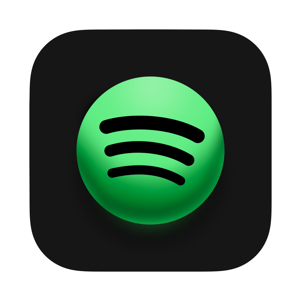 Took a crack at making a Spotify icon in Big Sur style