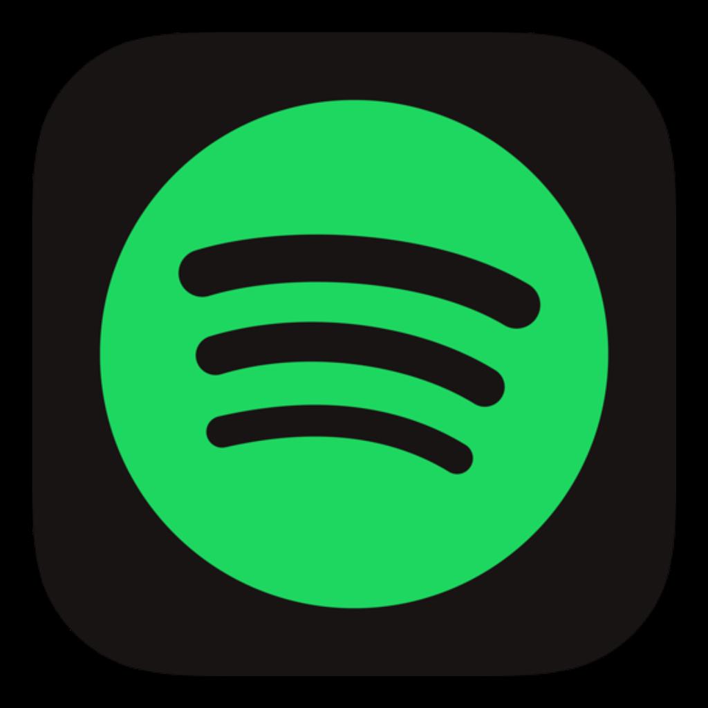 spotify logo black green music app dark circle square