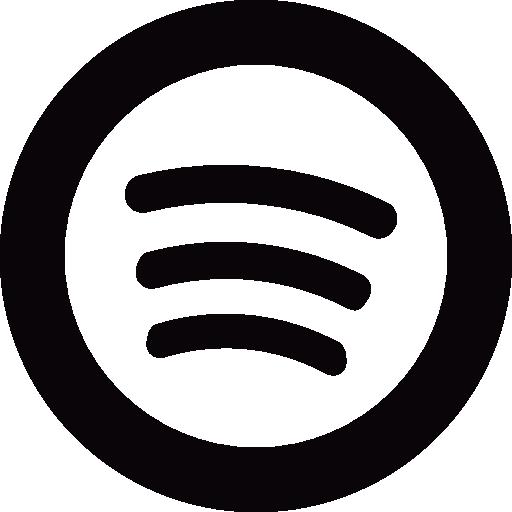 Social spotify circle  Free Icon